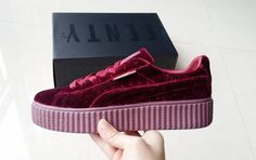 a297fb4c17bfb2 Puma Rihanna X Creepers Casual Shoes Suede Burgundy - Puma Shoes Cheap  Sneakers