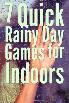 7 Quick Rainy Day Games for Indoors 7 Quick Rainy Day Games for Indoors Marissa Sipes Marissa Sipes Rainy days can be devastating when you had a whole bunch of great outdoor games hellip Games To Play Indoors, Games To Play Inside, Outdoor Games To Play, Indoor Group Games, Indoor Games For Kids, Summer Camp Games, Group Games For Kids, Camping Games, Games For Teens