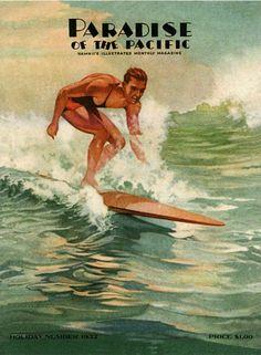 Vintage surf ad