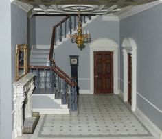 Ann Barringtons' wonderful hallway, uses my doorcases, fireplace, and many other items