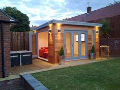 Nice 55 Cool DIY Backyard Studio Shed Remodel Design & Decor Ideas homevialand. Shed Office, Backyard Office, Backyard Studio, Backyard Sheds, Outdoor Office, Garden Sheds, Small Garden Office, Garden Bar Shed, Office Kit