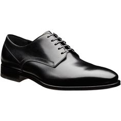 Larciano Leather Derbies ($665) ❤ liked on Polyvore featuring men's fashion, men's shoes and men's oxfords