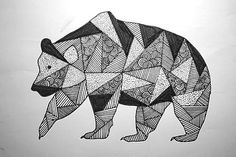 pattern bear / drawing