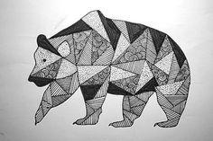 pattern bear / drawing