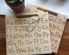 Alphabet Board, Alphabet Tracing, Wooden Alphabet, Pallette, Wooden Educational Toys, Cnc Projects, Montessori Activities, Wood Toys, Lowercase A