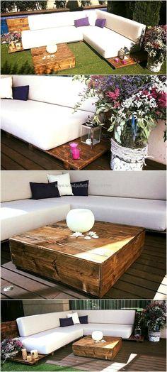 repurposed wood pallet patio garden couch
