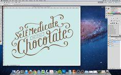 #Photoshop tutorial for creating hand-drawn type designs via http://designtaxi.com