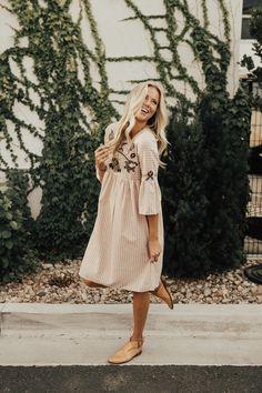 Santa Rosa Embroidered Dress | ROOLEE