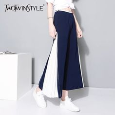 Patchwork Wide Leg Pants Female Chiffon High Waist Split Pleated Long Trousers Summer Fashion Women New Clothing #WideLegPants #highwaisted #Outfit #Boho #Linen #HowToWear #Work #DIY #Pattern #PlusSize #Summer #Cropped #Casual #StreetStyle #Winter #Petite #ForWomen #Black #Dressy #pants #2017 #Palazzo #Formal #pant #White #Striped #Gree #Printed #Shoes #Sneakers #Chic #Fall #Curvy #Spring #2018 #Red #Wedding #Jeans #Suit #Boots #Office #Pleated #Party #Hijab #Korean AFFILIATE LINK