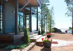 Lakeside Cottage, Beautiful Space, Villa, Cabin, Beach, Outdoor Decor, Modern, Plants, Inspiration