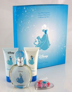 Snow White perfume + Body Lotion is a sweet citrus-floral fragrance for girls. It is a scent in the Disney Princess series of fragrances, by Disney.