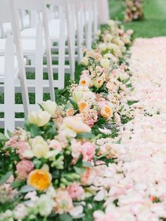If you're brainstorming romantic wedding ideas, think elaborate florals, a sweeping gown and elegant décor. As for your color scheme? Think pastels.