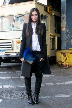 Street fashion: Tygodnie Mody wiosna-lato 2014 - Nowy Jork, fot. Imaxtree