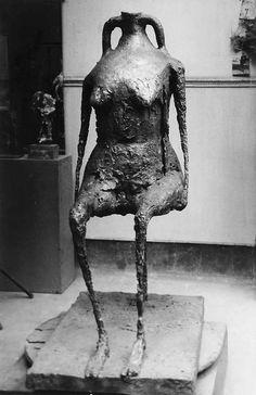 "Brassaï (Gyula Halasz, 1899-1984) ""L'eau"" (Water), sculpture de Germaine Richier, circa 1950"