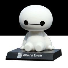 12 cm big hero 6 baymax figura de acción de juguete, Sacudiendo La Cabeza de dibujos animados Lindo Robot Figura Modelo Baymax Juguetes Para Niños/Regalo de Navidad