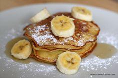 Mis tortitas de plátano son de muerte! Prueba mis banana pancakes estilo americano para un desayuno o una merienda increíble!