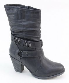 Look what I found on #zulily! Black Wrap-Strap Boot #zulilyfinds