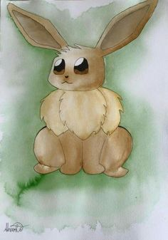 Painted a picture of Eevee. Want one like this? Goto my facebook page arias arts