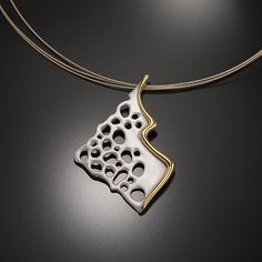 Vivid+Recollection by Aleksandra+Vali: Gold+&+Silver+Neckalce available at www.artfulhome.com