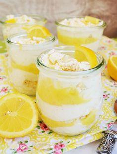 Zitronig, frisches, Löffelerlebnis! Lemon Curd – Joghurt – Creme