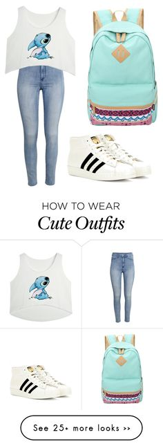 """School outfit"" by bridgetdnapoli on Polyvore featuring H&M and adidas Originals"