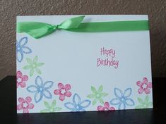 One Layer Flower Card by cmk7471 - Cards and Paper Crafts at Splitcoaststampers
