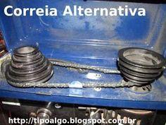 Foto: Ideia de Correia alternativa. Feita com fios obtidos da banda de rodagem…