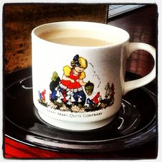 Mary, Mary, Quite Contrary - Good Morning! My very first mug - precious memories from childhood. Mary Mary, Childhood, Memories, Mugs, Drink, Tableware, Glass, Memoirs, Infancy