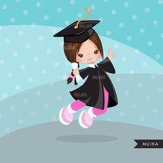 Graduation Clipart. Graduation graphics cape scroll cap