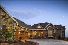 Single story with walkout basement for retirement on a hill over looking a valley in Montana.