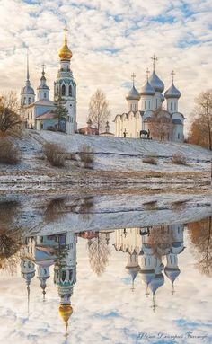 Sophia Cathedral and bell tower in the city of Vologda, - Ukraine Flowers Delivery Russian Architecture, Church Architecture, Places To Travel, Places To See, Travel Destinations, Beautiful World, Beautiful Places, Voyage Europe, Cathedral Church