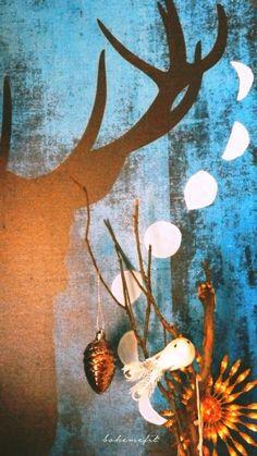 ✧☽ canvas 'stag #moon phases' canvas ☾✧ #bohemefit #diy