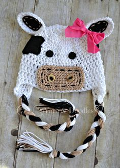 Baby Cow Hat  Newborn  Infant  Photography Prop  by YarnandDoodles, $34.99