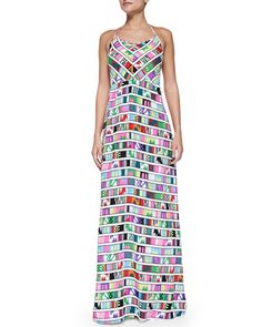 T95XQ Mara Hoffman Printed Halter-Neck Maxi Dress