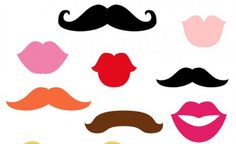 Photo booth props - Lips & Mustaches
