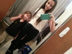 Meh and my lil sis