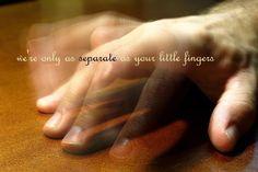 """""""we're only as separate as your little fingers."""" -deb talan.  image: Jonathan Cohen. https://www.flickr.com/photos/jonathancohen/4028007217/in/photolist-78WAdi-q5K8Ss-7b9qry-5StCnS-5ahxz-3BSZLd-98cf3u-7vYAg7-fcLU9N-aajCLS-ry4jT-d2iJj9-8uW32q-6F2Ket-ojEwEJ-5aiTK-hbHR8H-tT5y4-3dtfB5-ptCtoD-opZUwC-deoc7i-dKLbzC-4EoXk4-aZ4tH6-3doP6x-wdQt8-wdQ95-62fJGk-5neNp-6SMGjb-6VuCNn-4B1qtd-4KfynN-bFH6KR-JMLrW-d5QA57-7TA51r-5VxF3B-99sjQi-6dkbSj-7ZxGsn-34AJsP-aD2i2D-mnCTJ-kgEZjK-7ATJvt-5J96eP-dt1ngS-akufQa"""