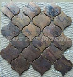 Arabesque Lantern Beacon  Copper tile in bronze brushed for kitchen backsplash…