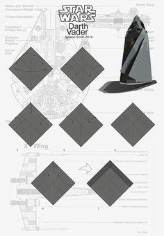 Darth Vader origami diagram