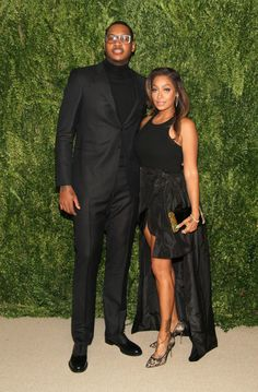 Carmelo Anthony and wife LaLa Anthony hit the red carpet at the CFDA Awards