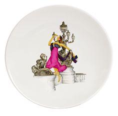 From Paris with Love Porcelain Plates  Le Paris de Madame-Ritz Haviland (4)