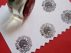 Tournesol les tampons en caoutchouc Rubber Stamp à la main par BlossomStamps