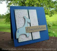 Dana's Dabbling Studio: A Baby Boy {Congratulations} Card...