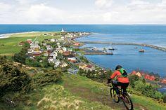 Downhill Riding. Godøya, Norway