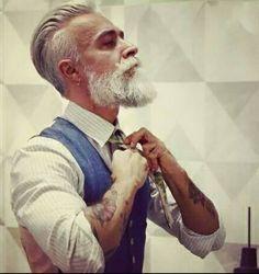 Salt and pepper gray hair. Grey hair. Silver hair. White hair. Granny hair don't care. No dye. Dye free. Natural highlights. Aging and going gray gracefully. Men's hair. Beard.
