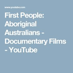 In a genetic study in researchers found evidence, in DNA samples taken from strands of Aboriginal people's hair, that the ancestors of the Aboriginal p. Documentary Film, Documentaries, Films, Australia, Youtube, People, Movies, Cinema, Movie