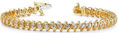 Diamantarmband mit 1.00 Karat Brillanten aus 585er Gelbgold