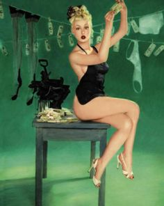 ★ Pin Up Drying Money ★