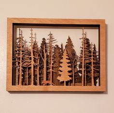 The Call of the Woods - 7 Layer Wall Art Wood Pallet Art, Wood Pallets, Wood Art, Layer Pictures, Pallet Wood Christmas Tree, Gravure Laser, Laser Art, Wall Clock Design, Wood Burning Patterns
