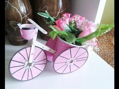 Artesanato-Triciclo de cd para decoração com materiais reciclados - YouTube